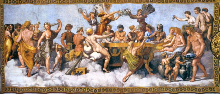 Wedding banquest of cupid and psyche