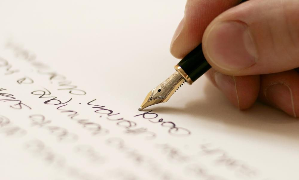 people writing